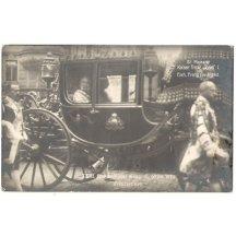 V kočáru jsou císař Franz Josef a Franz Ferdinand