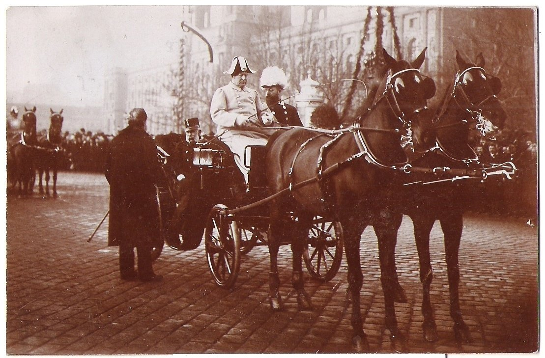 Arrival of Franz Joseph in the coach
