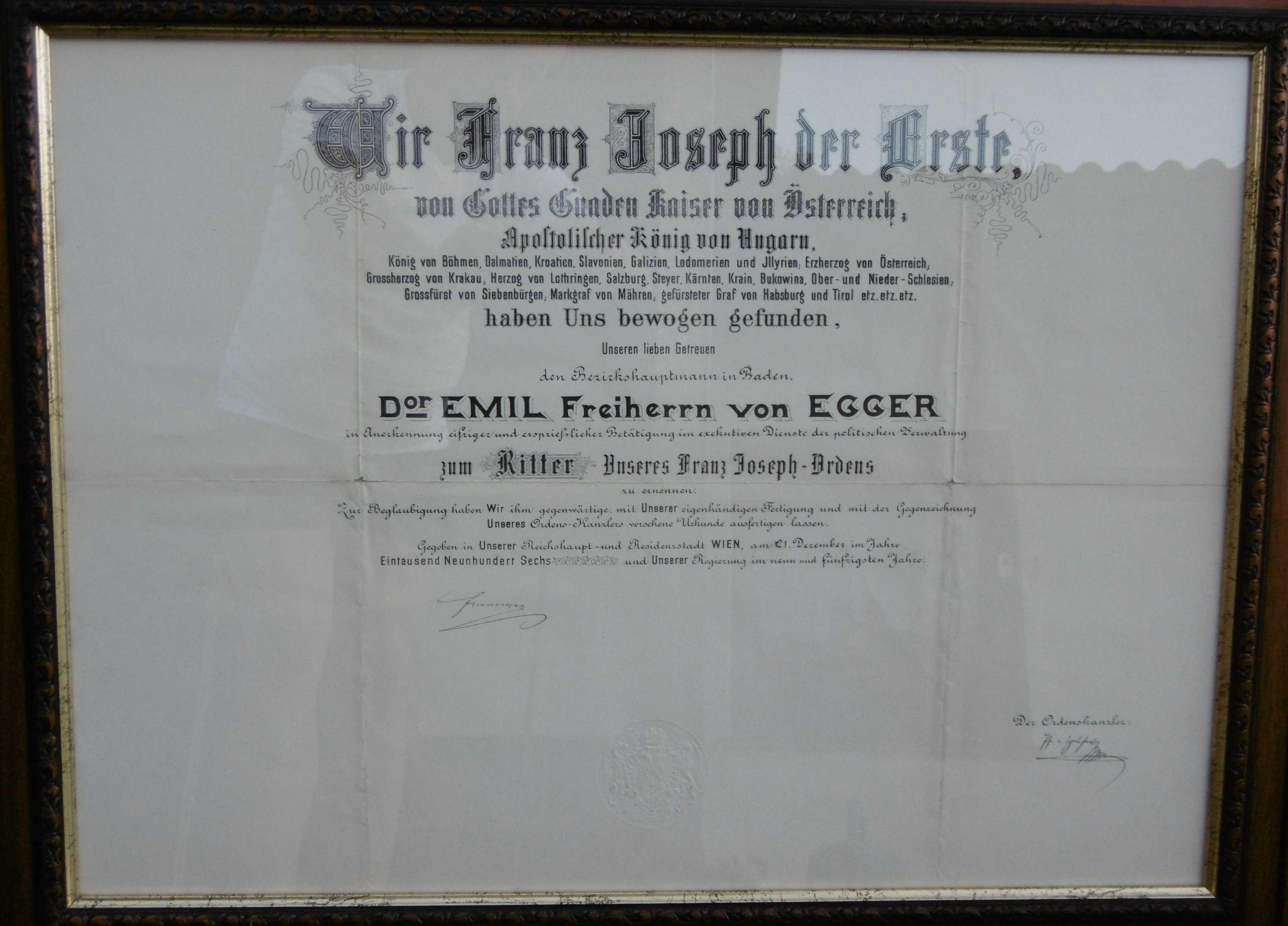 Appointment decree