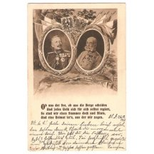 Franz Joseph and Wilhelm, with poem