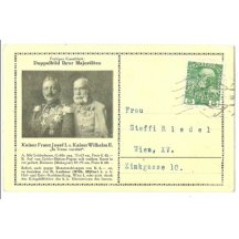 Franz Joseph and Wilhelm on a postcard