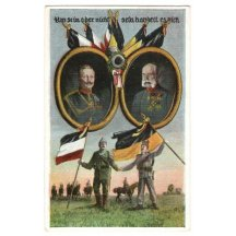 Wilhelm and Franz Joseph , flags of their countries