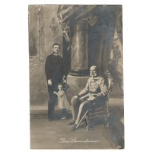 Franz Joseph is sitting and Carl Franz Joseph is standing , second issue