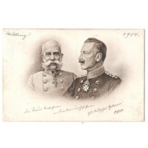 Franz Joseph and Wilhelm, black and white issue