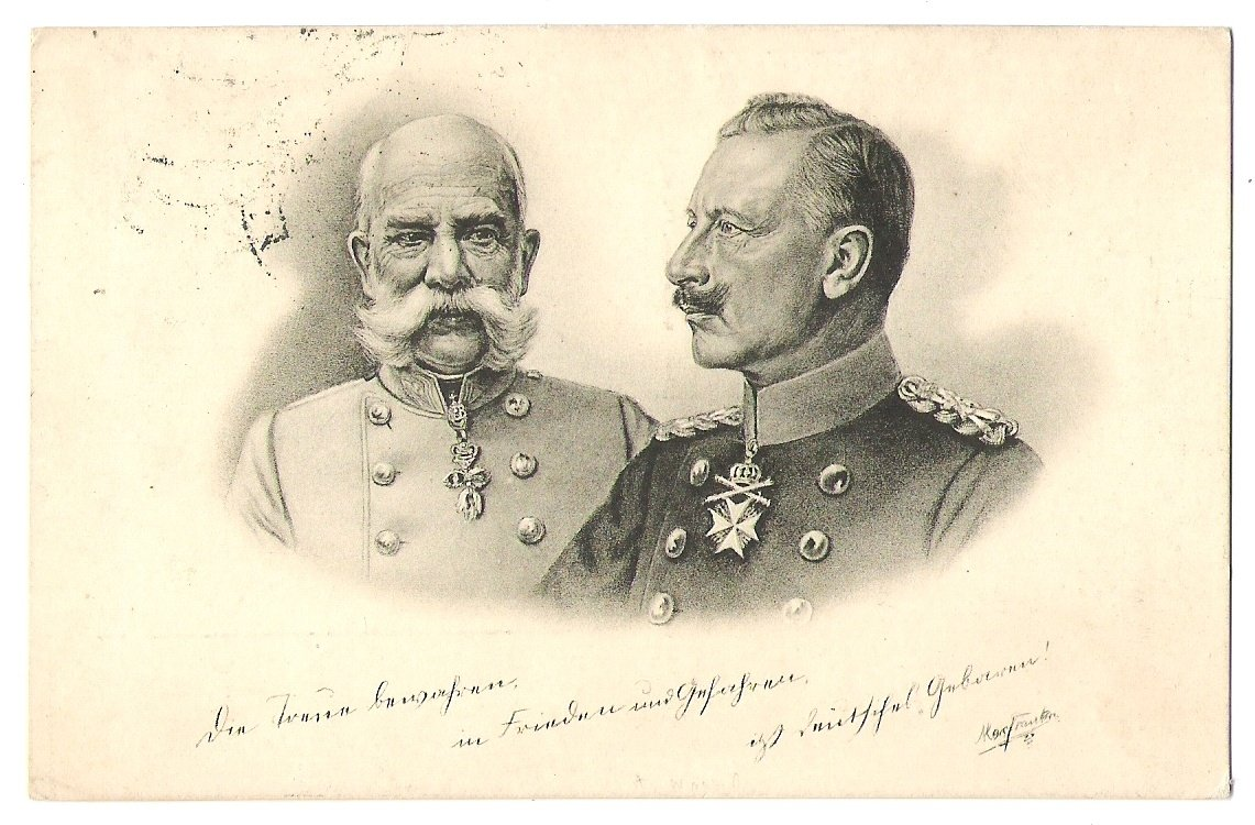 Franz Joseph and Wilhelm, second black and white issue