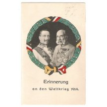 Wilhelm and Franz Joseph : In memory of World War in 1914