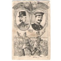 Wilhelm a Franz Josef pod orlicemi