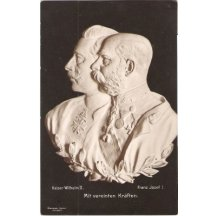 Portraits of emperors Wilhem and Franz Joseph , third issue