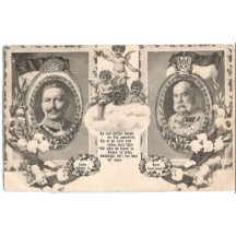 Franz Joseph and Wilhelm , with angels