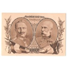 Franz Joseph and Wilhem together with flag