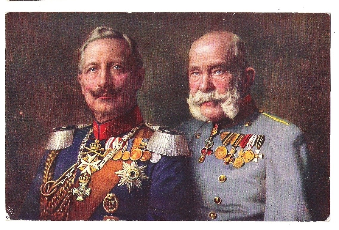 Wilhelm and Franz Joseph are wearing uniforms