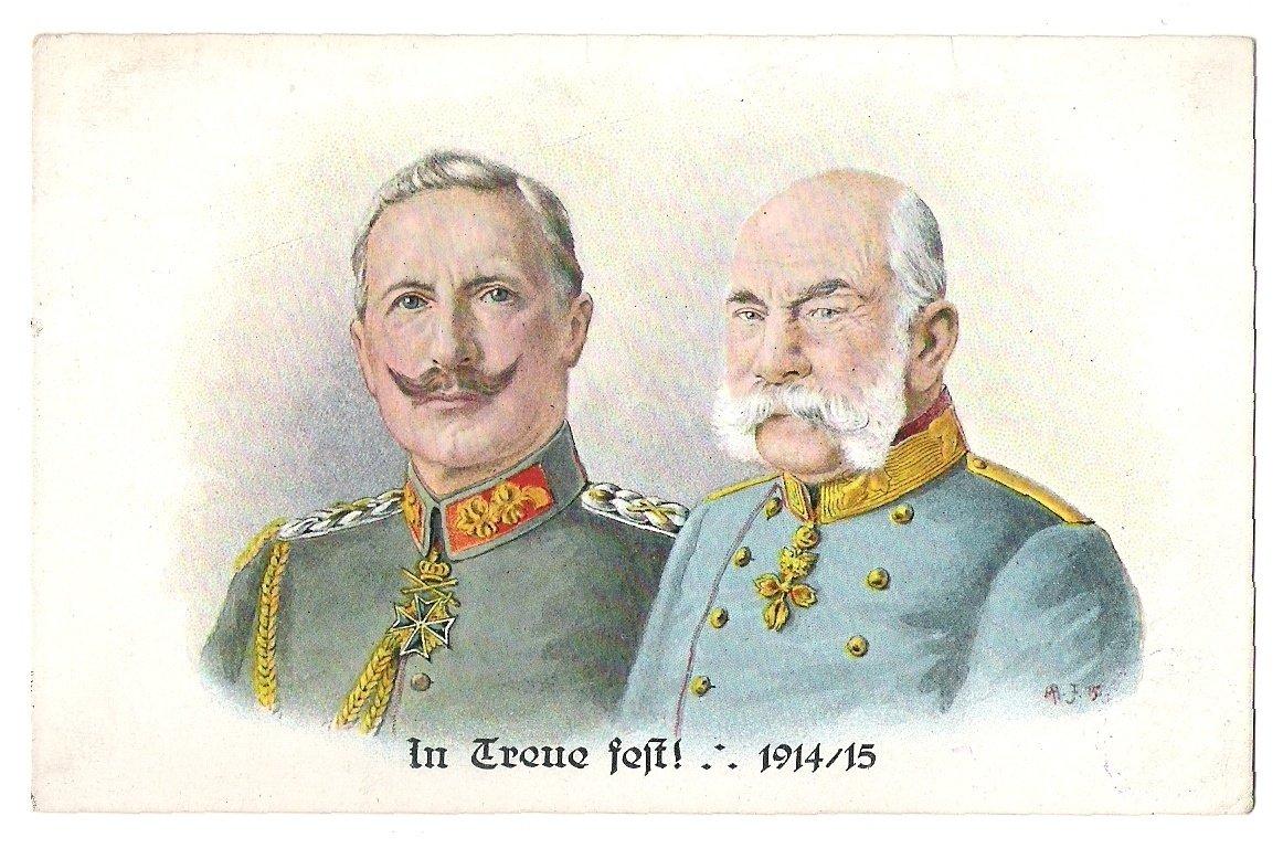 Císaři Franz Josef a Wilhelm