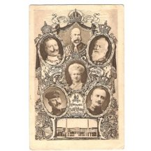 Postcard , Franz Joseph is 60 years old , with portraits of well-wishers