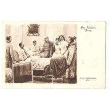 Franz Joseph at the visit in a hospital