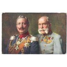 Franz Josef a Wilhelm v uniformách