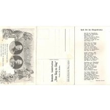 Double print of advertising postcards - Franz Joseph , Wilhelm