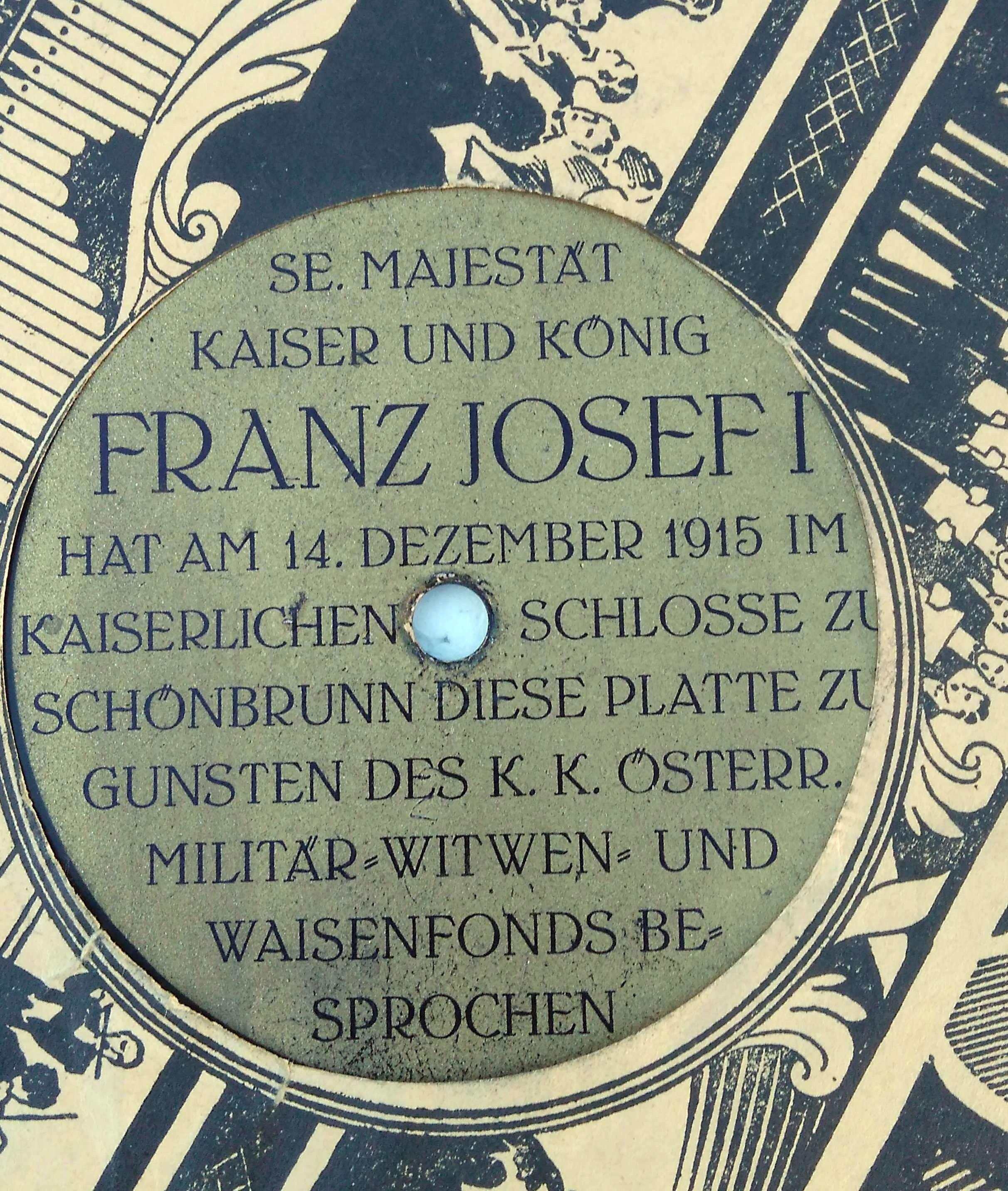 Hlas císaře Franz Josefa I.