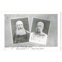 Emperor Franz Joseph and king Leopold II.