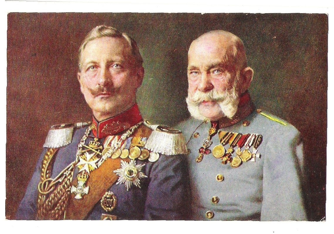 Wilhelm and Franz Joseph in staff uniforms