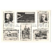 Franz Joseph , Wilhelm and Carl with warships