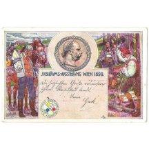 Festive postcard to Franz Josephs 50th bitrthday