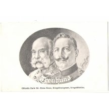 Franz Joseph and Wilhelm in an oval design
