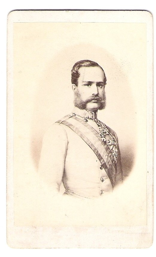 Franz Joseph with medals and sash