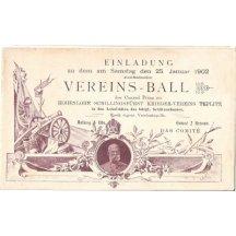 Pozvánka na slavnost: Vereins-Ball