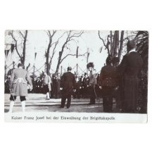 Franz Joseph and group of people , who welcomes him with music