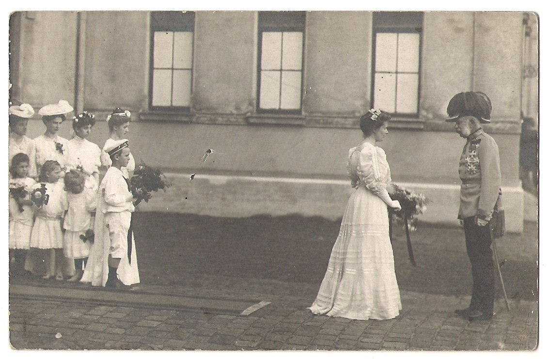 Franz Joseph is welcomed with flowers