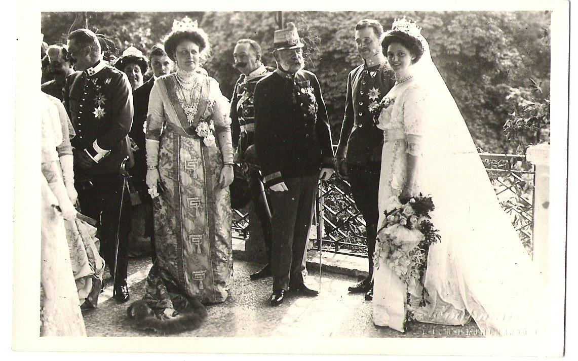 Na svatbě Karla a Zity- Franz Josef u novomanželů