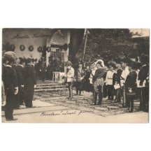 Welcoming of Franz Joseph , evidently in Serbia