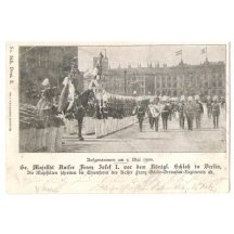 Franz Joseph during the parade in Berlin 1900 with emperor Wilhelm