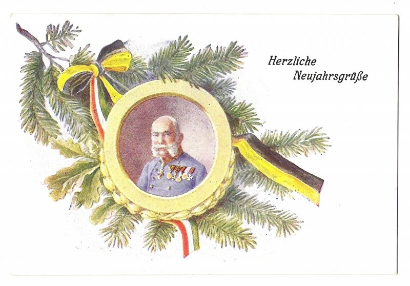 Hearty congratulations to New Year , Franz Joseph's portrait