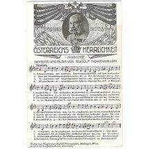 Rakouská hymna od Rudolfa Nowowiejskiho