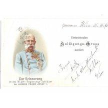 Franz Josef ve světle-modré uniformě se svými řády