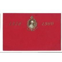 Červený papír a portrét Františka Josefa
