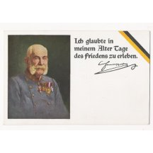 Postcard with portrait of Franz Joseph