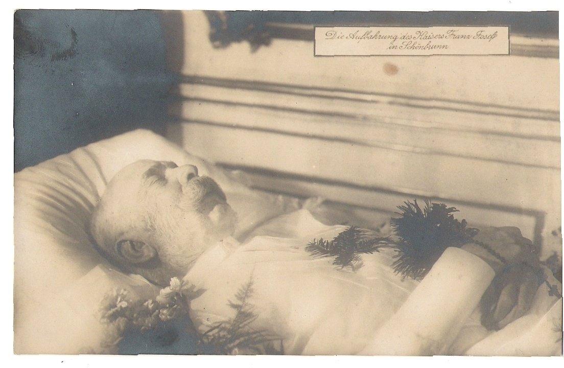 Franz Josef v rakvi v Schönbrunnu ve svém pokoji, 6.tisk