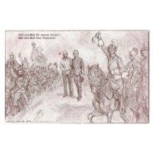 Vojáci vzdávají hold Franz Josefovi a Karlovi