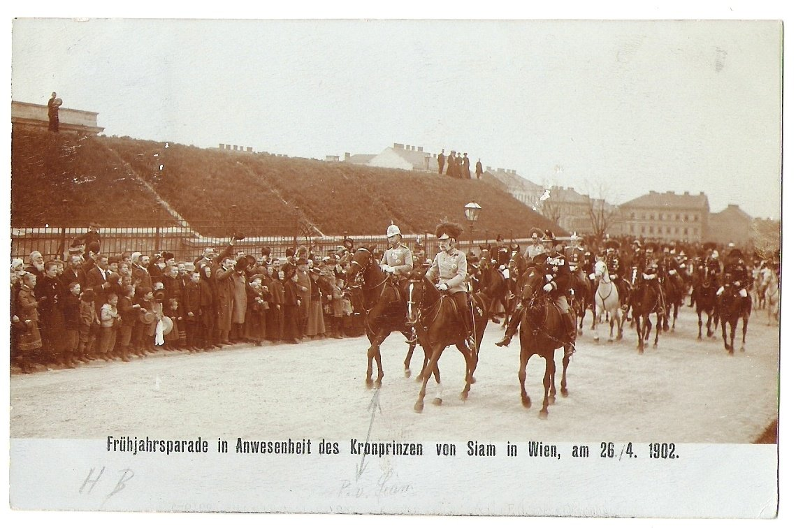 Návštěva korunního prince ze Siamu ve Vídni, r.1902
