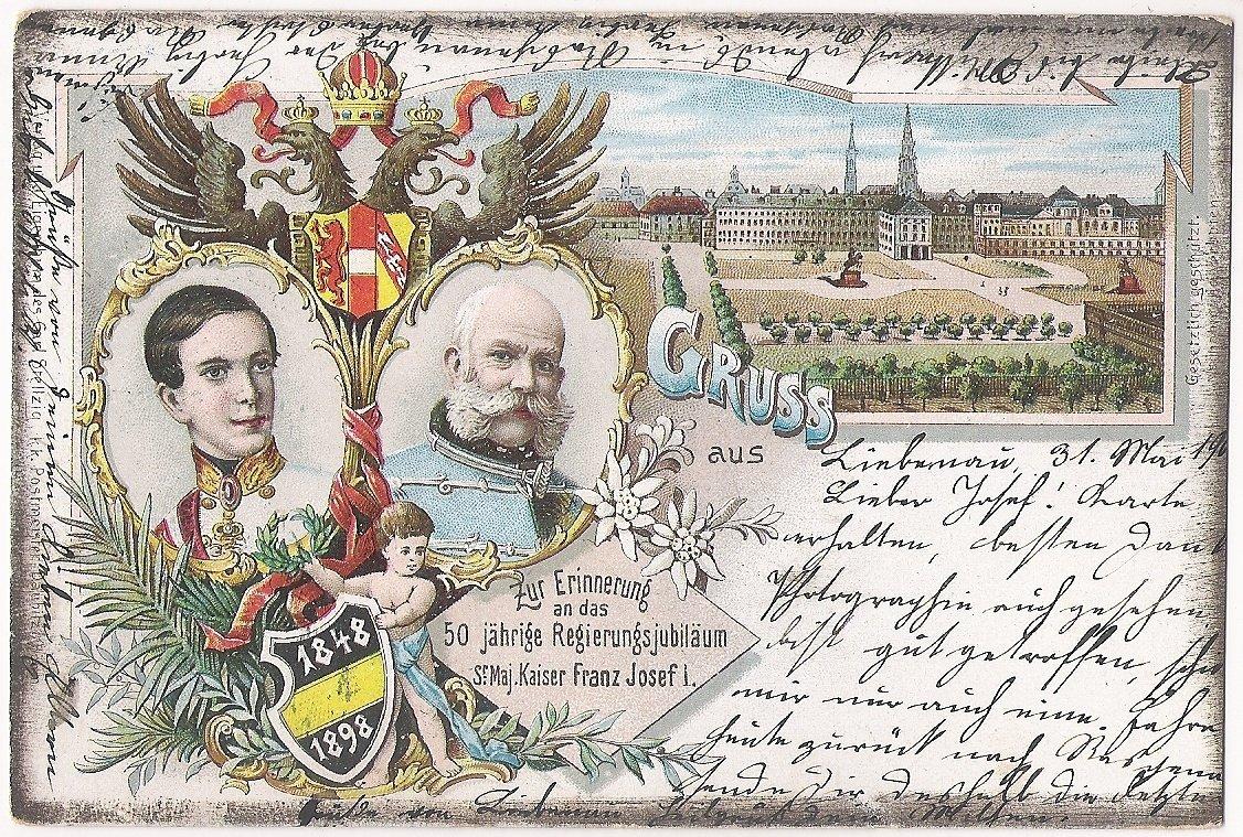 Dvojportrét Franz Josefa- Vídeň, 50. narozeniny