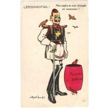 Karikatura Wilhelma v bojové uniformě
