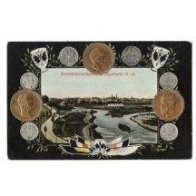 Myslowitz- vyobrazení mincí tří císařů