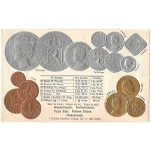 Pohlednice s mincemi- Netherlands, Holandsko