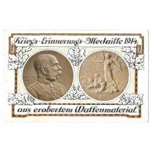 Pohlednice s vyobrazením Franz Josefa, rub a líc (2), tisková varianta