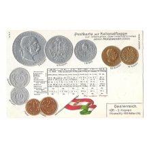 Pohlednice s rakouskými mincemi (2)