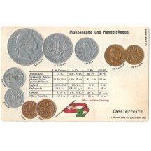 Pohlednice s rakouskými mincemi (4), varianta opisu