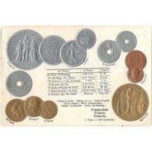 Pohlednice s mincemi- France, Francie
