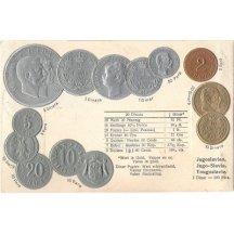 Pohlednice s mincemi- Jugoslavia, Yougoslavie